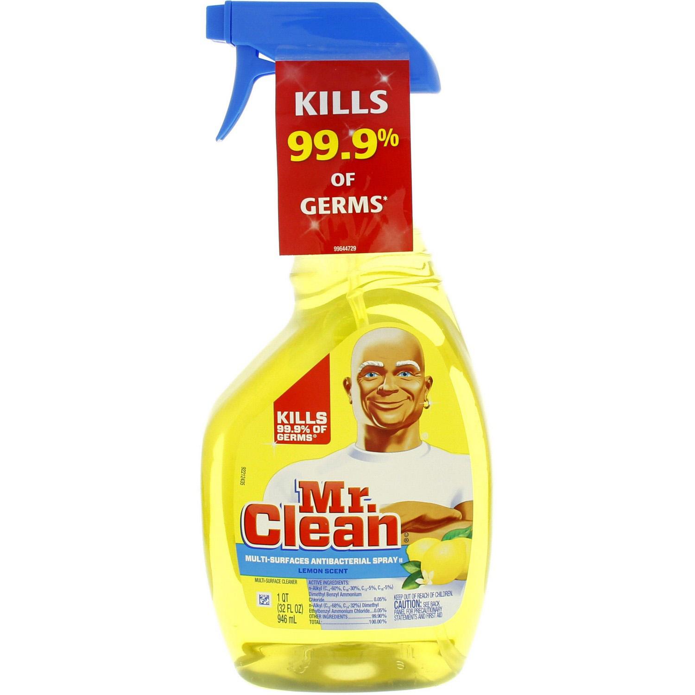 Mr  Clean Antibacterial Spray With Lemon 946 Ml