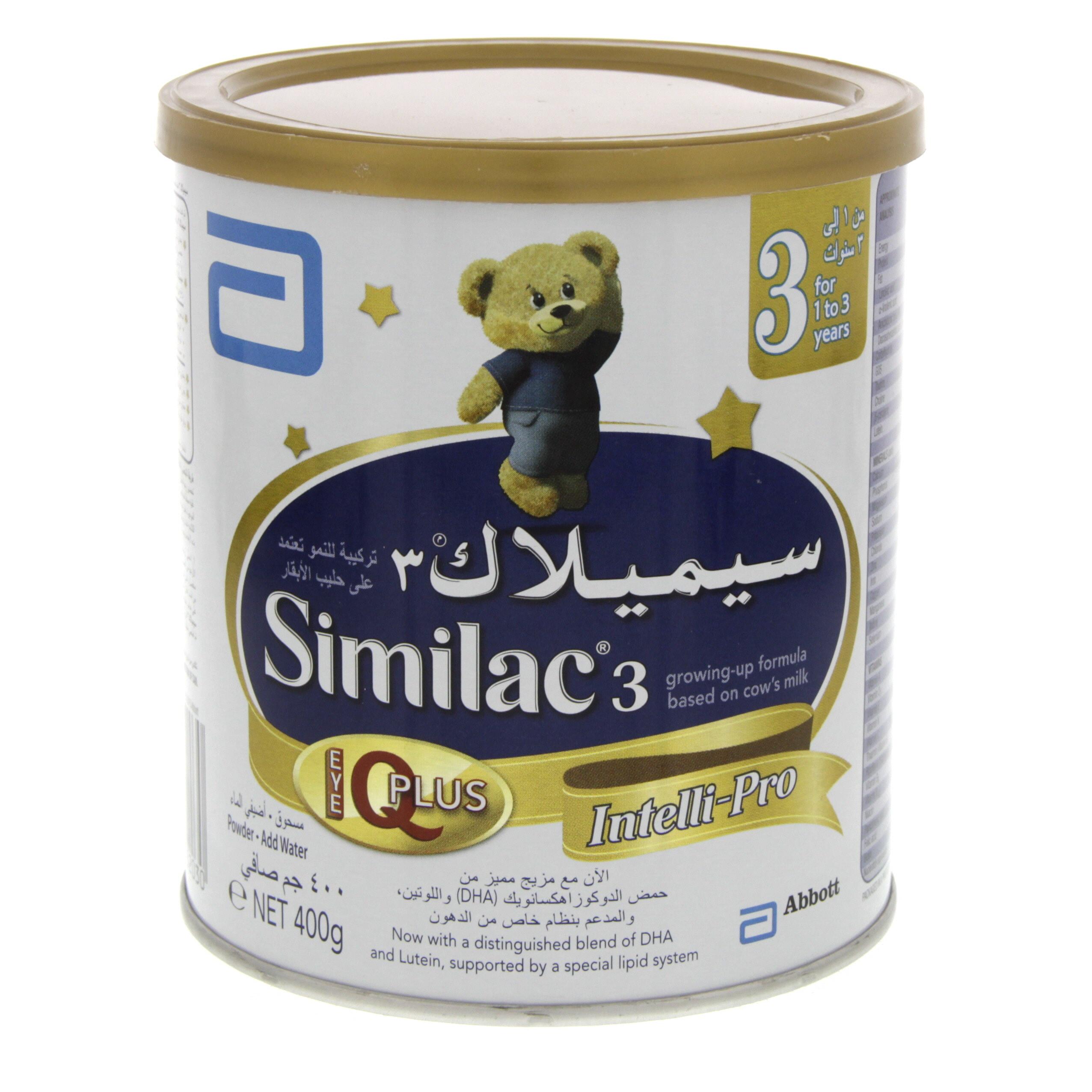 Similac 3 Intelli Pro Growing Up Milk 400 Gm Mercatco
